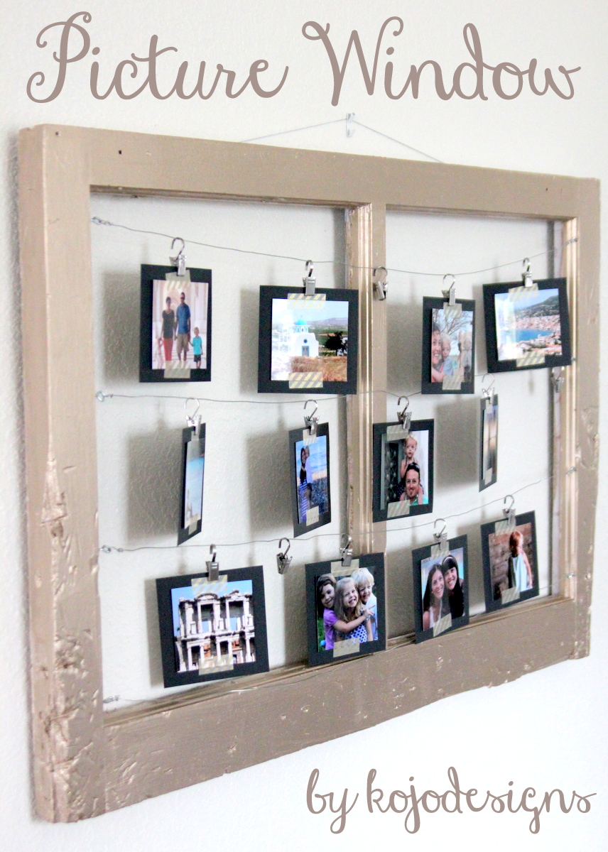 How to turn a reclaimed window into a metallic picture frame for Picture frame with clips diy