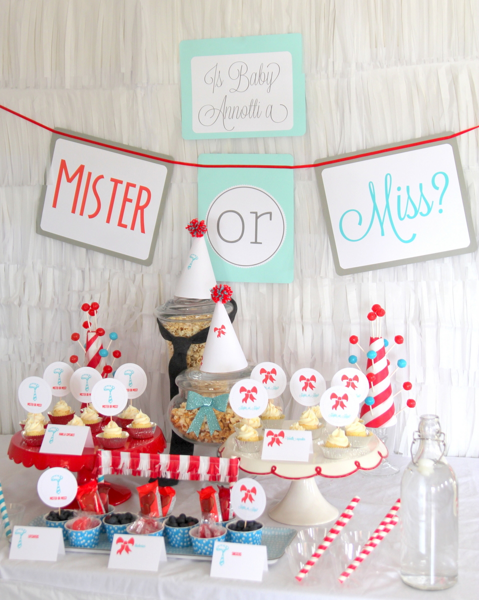 miss or mister gender reveal party
