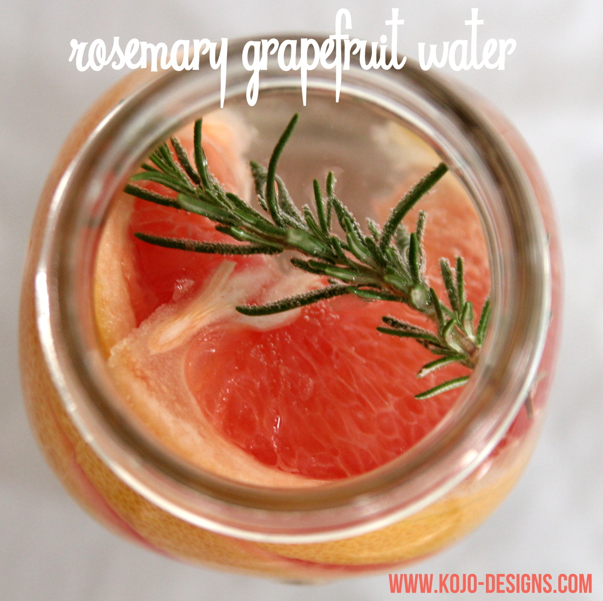 rosemary grapefruit detox water recipe