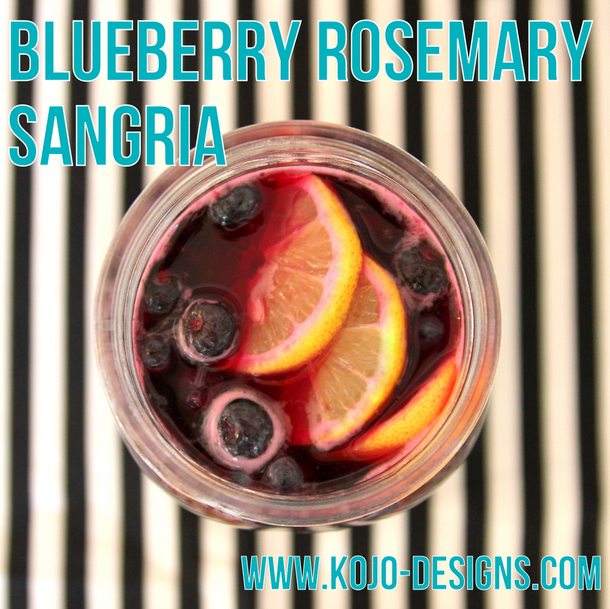 blueberry rosemary sangria recipe