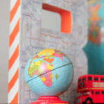 create a map covered monogram