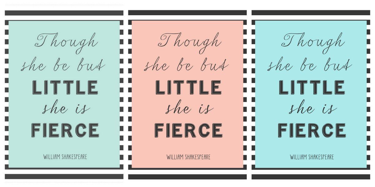 little but fierce printable