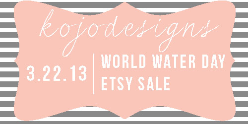 world water day etsy sale
