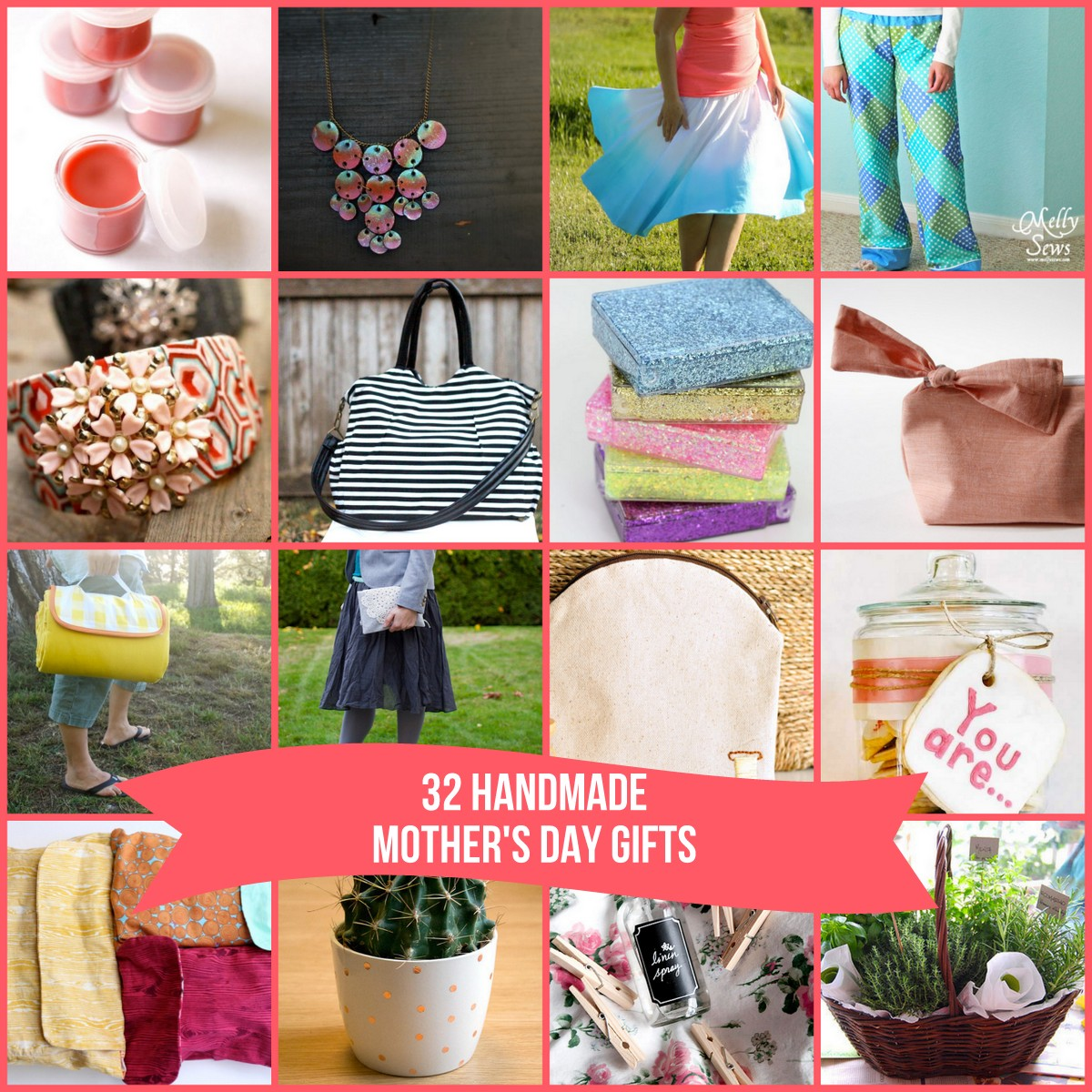 32 fabulous DIY Mother's Day gift ideas (includes no sew options!)