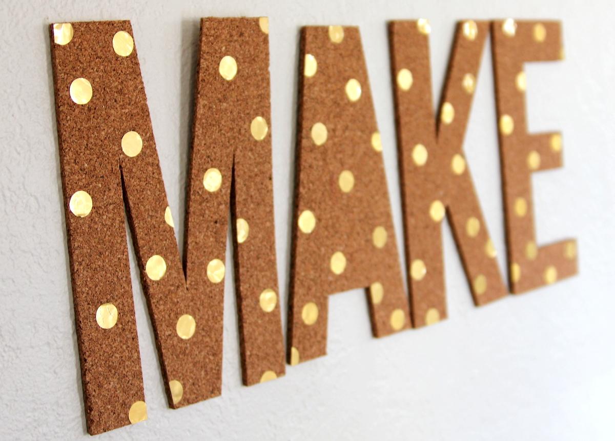 polka dot cork letters