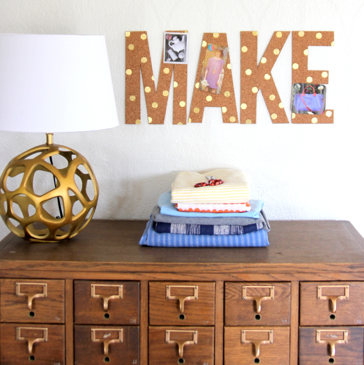 how to make cork letters