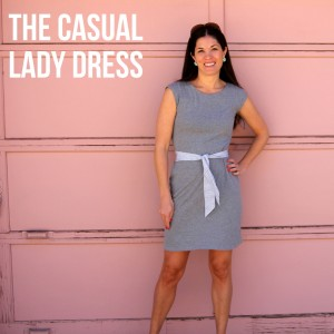 casual lady dress pattern