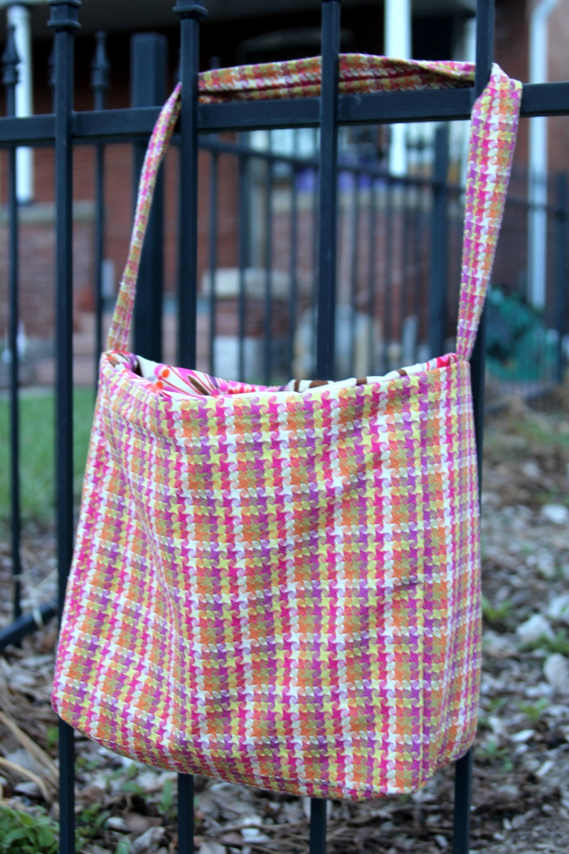 how to make a lined tote for spring