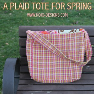spring-y plaid tote tutorial