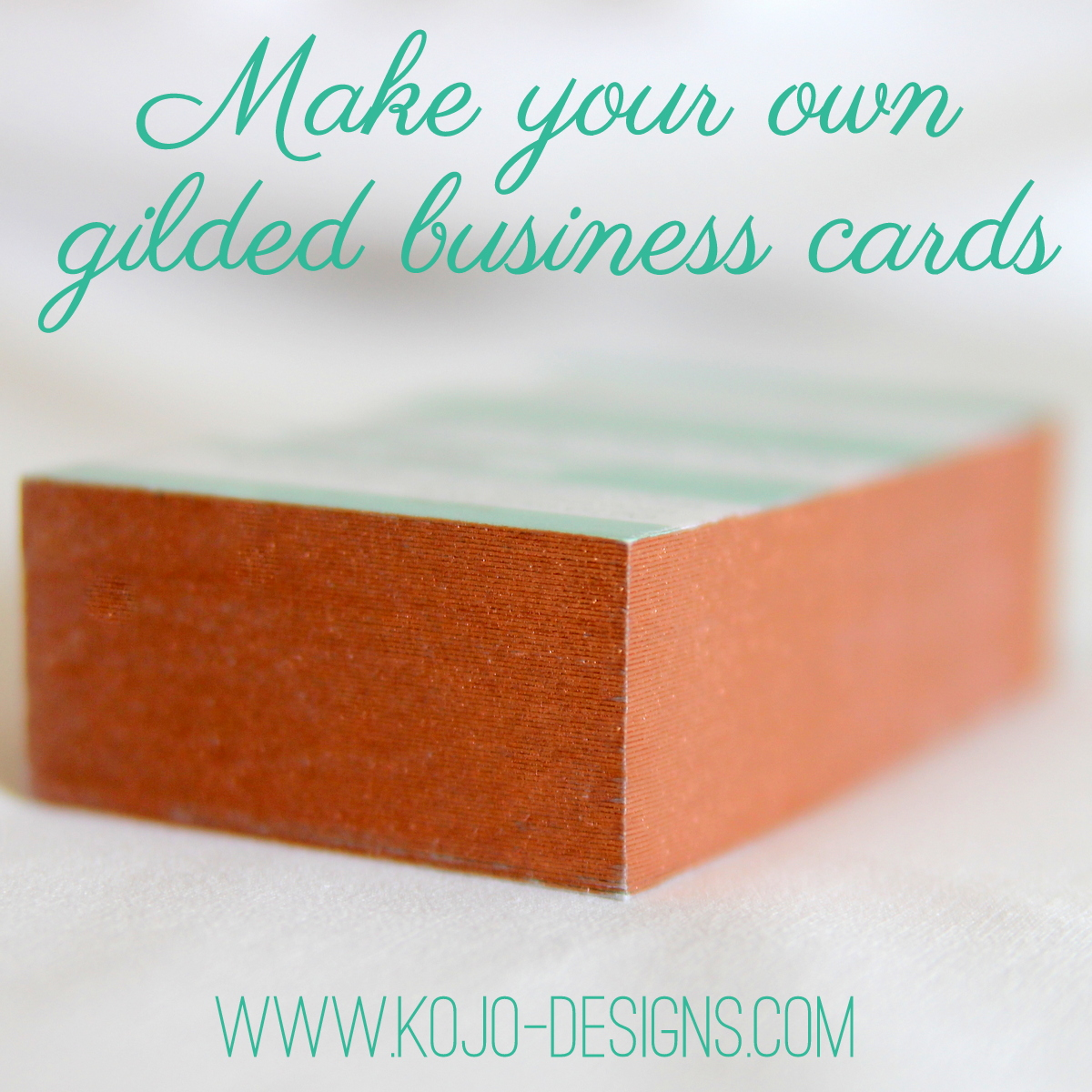 make your own gilded business cards