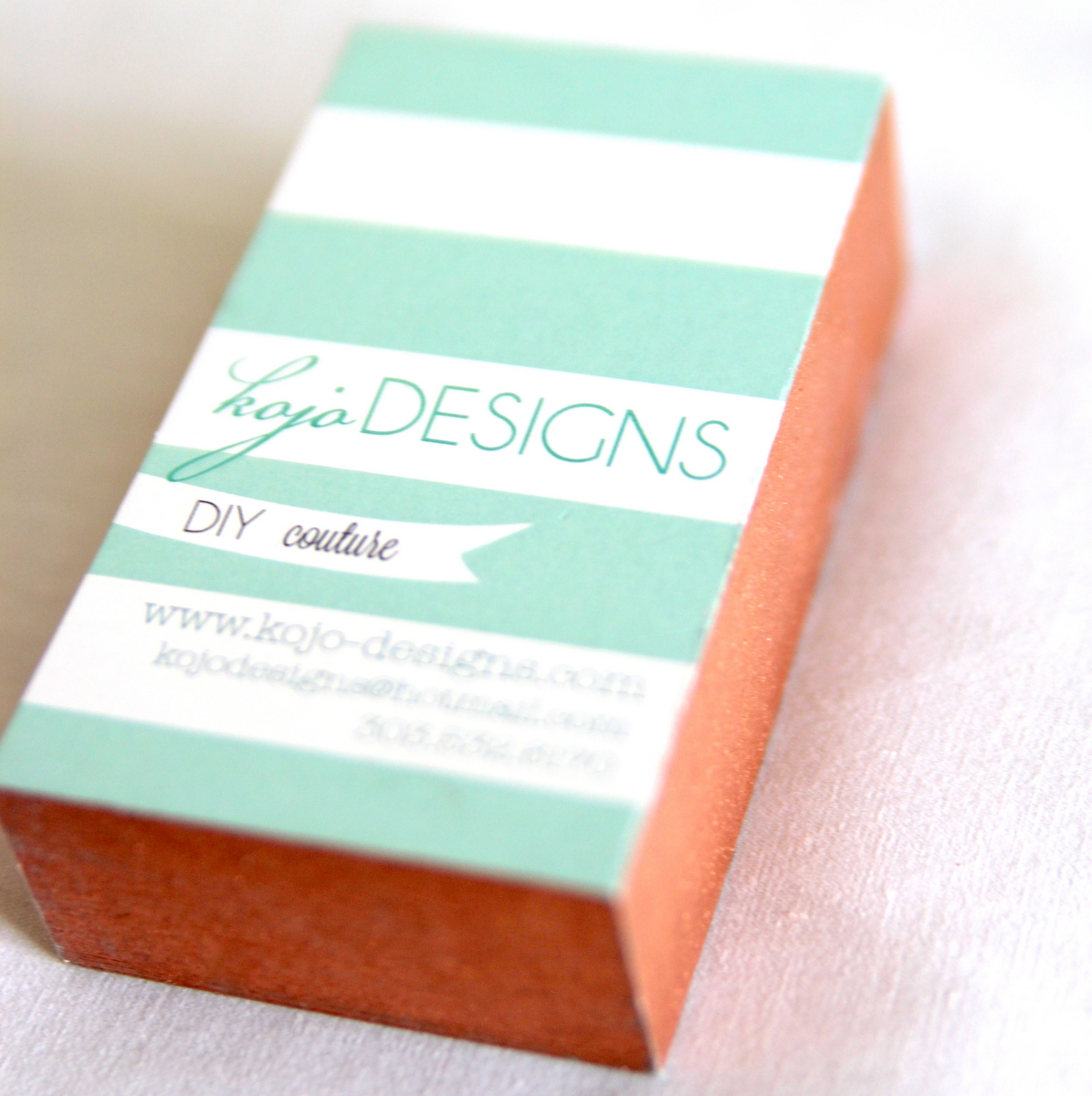 how to make metallic edged business cards