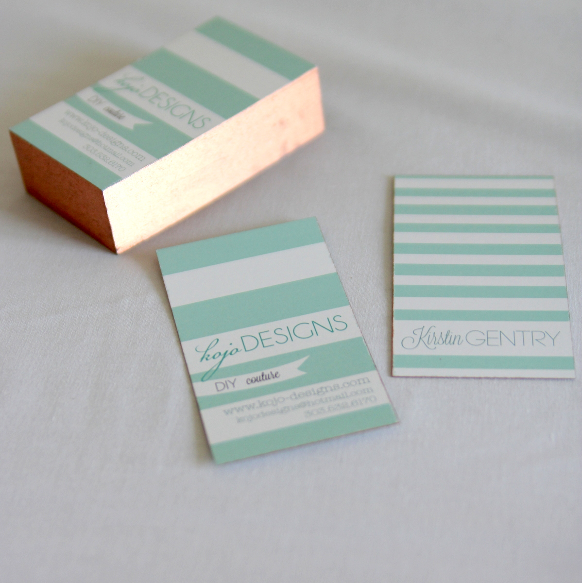 how to gild your own business cards