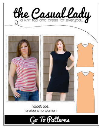 the casual lady dress and top pattern