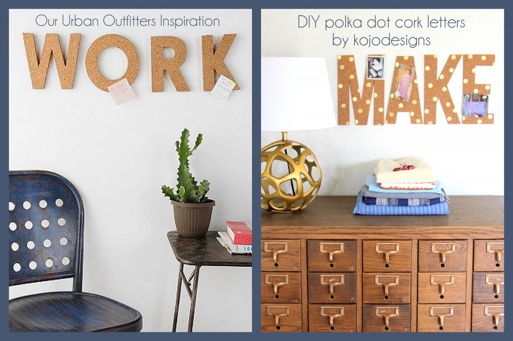 cork letters by kojodesigns