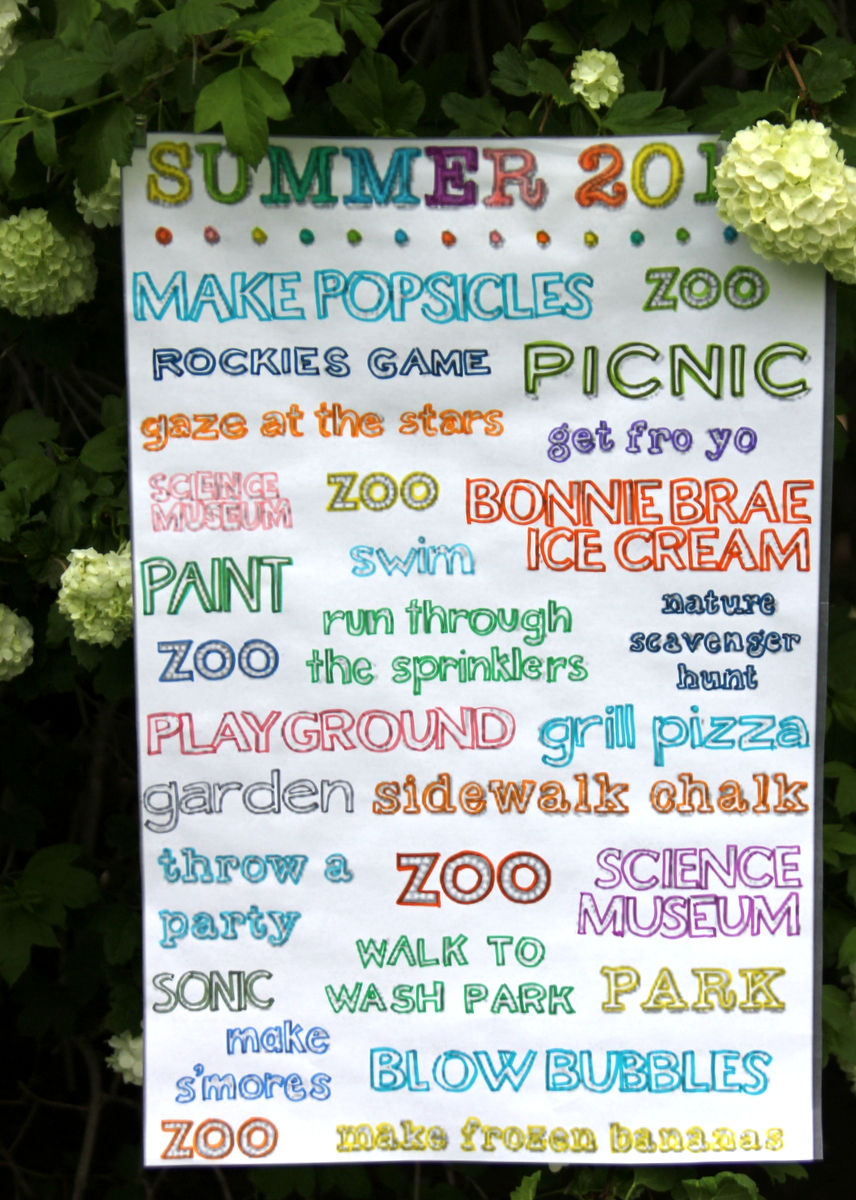 how to make a giant summer bucket list for $3