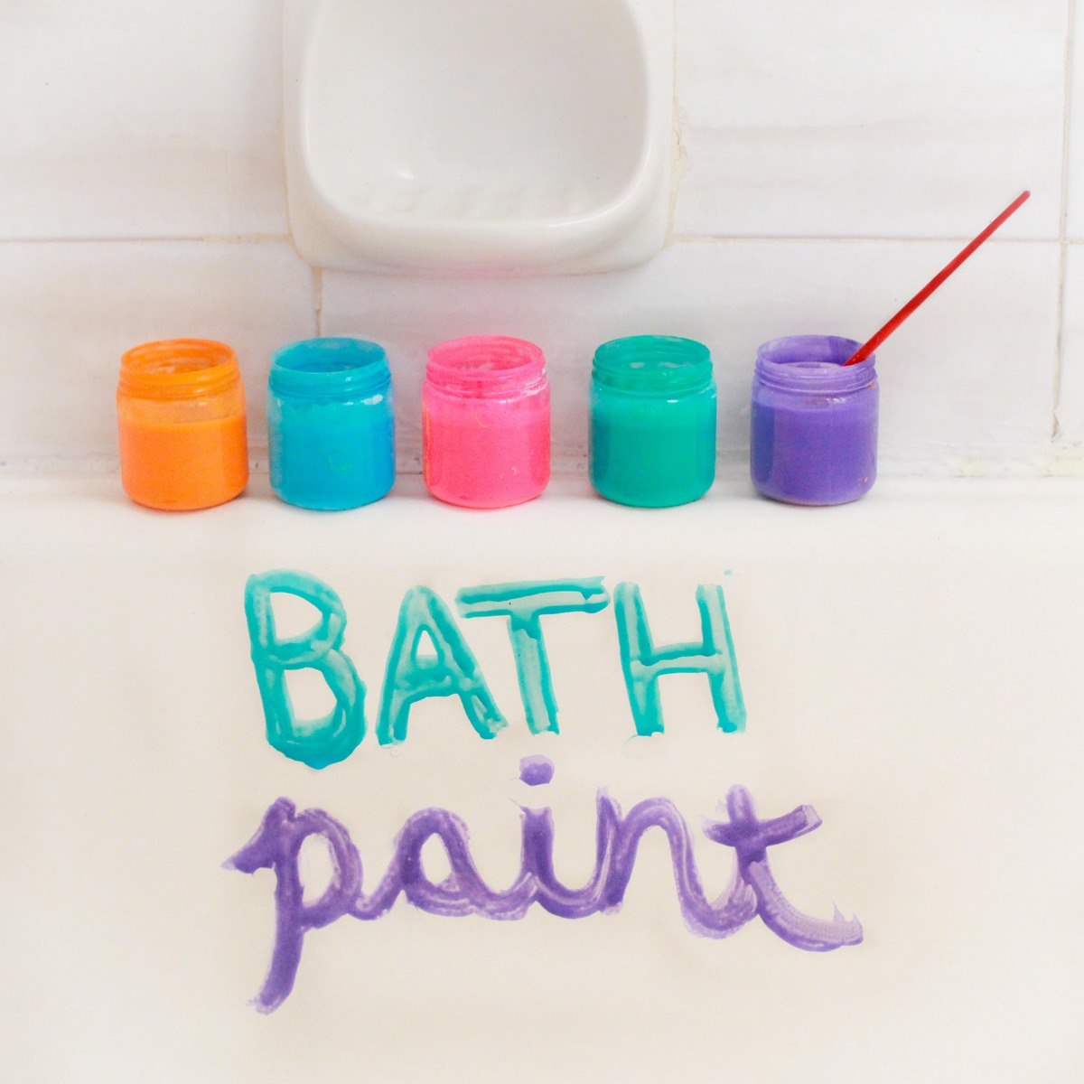 make your own bath paint