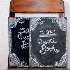 DIY chalkboard journal (a fun teacher gift!)