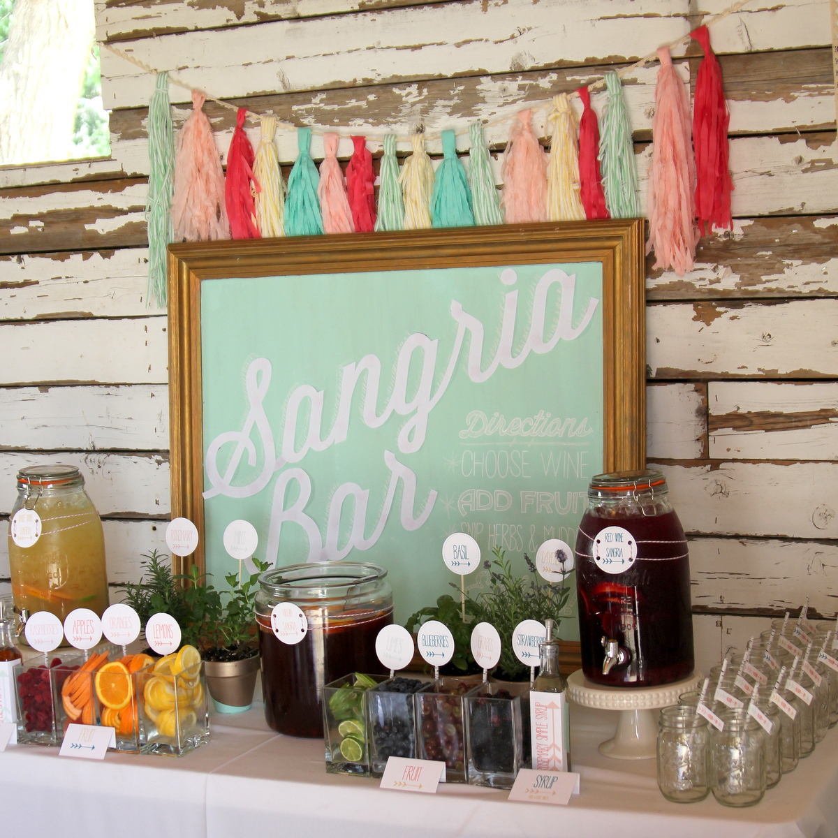 Wedding Drinks Ideas: The Ultimate Sangria Bar- Summer's Best Drink Station