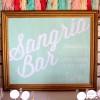 sangria bar mint chalkboard