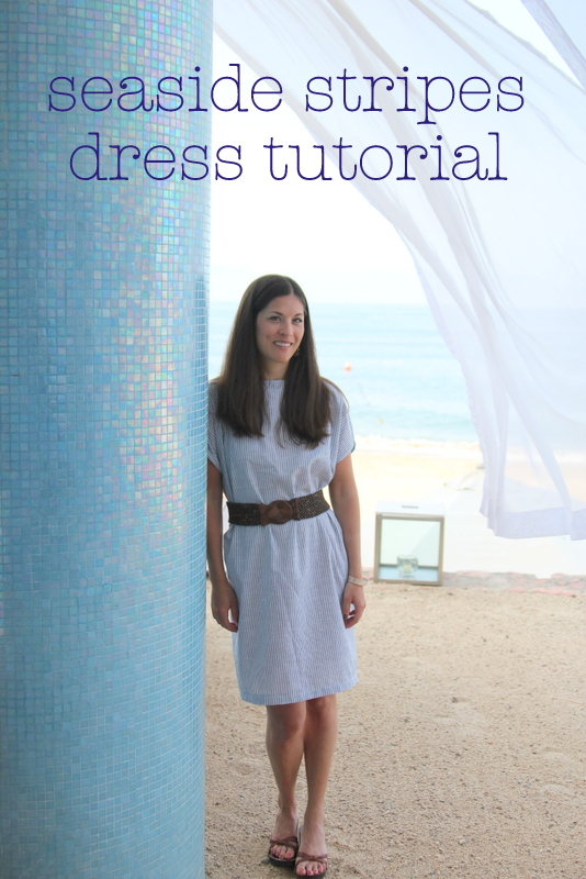 seaside stripes dress tutorial by kojodesigns