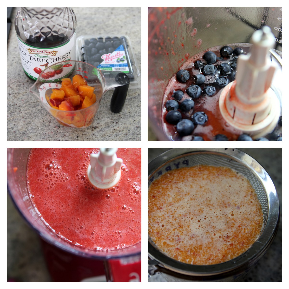 how to make cherry peach blueberry popsicles