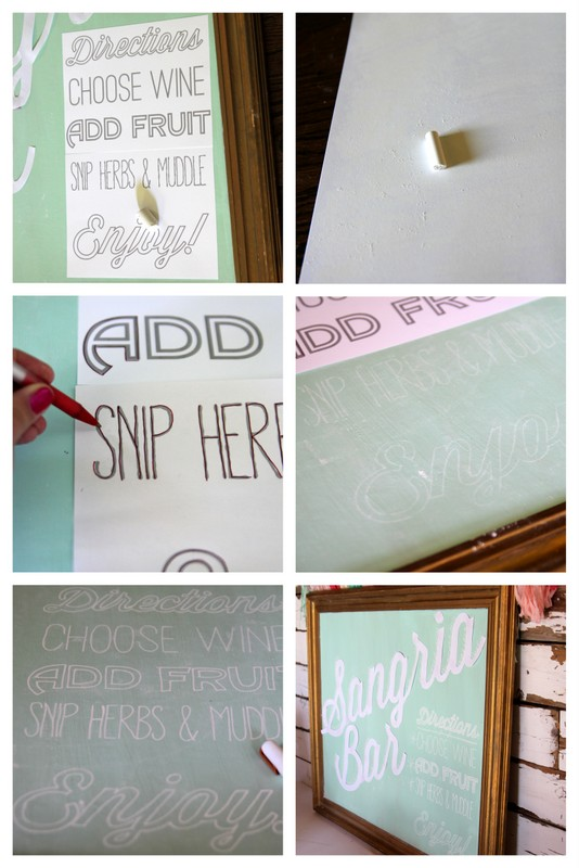 DIY chalkboard lettering