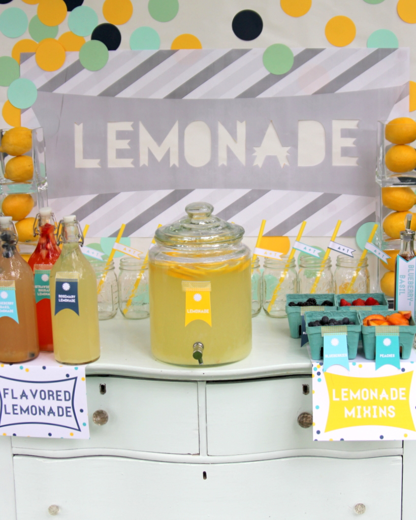 lemonade bar drink station