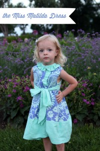 the miss matilda dress, the cottage mama pattern tour
