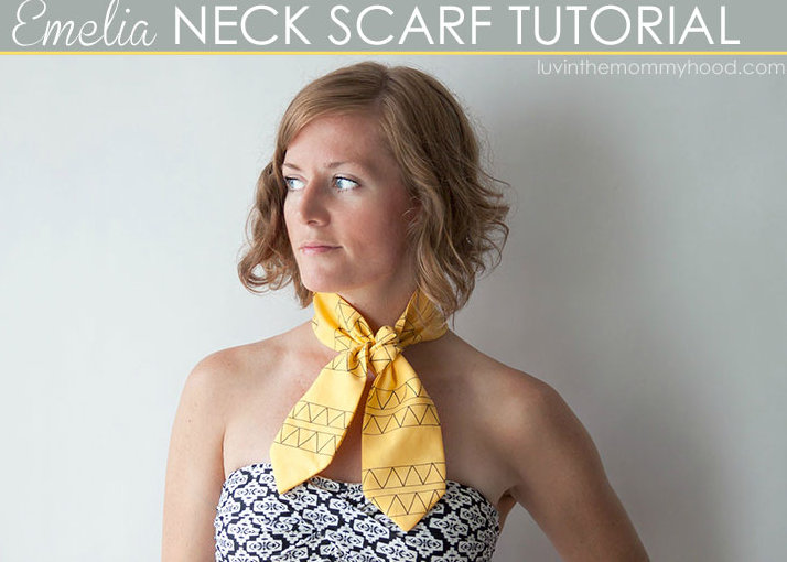 neck scarf tutorial