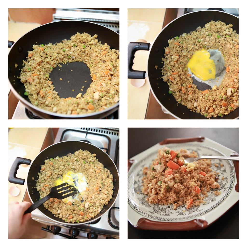 comfort food made healthier- quinoa 'chicken fried rice' recipe