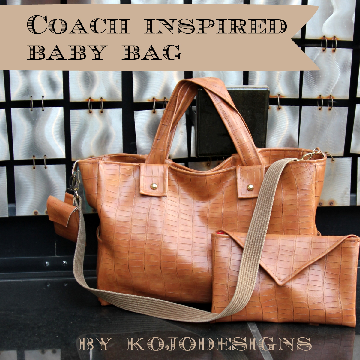 coach inspired baby bag by kojodesigns