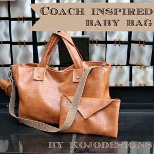 a coach inspired baby bag
