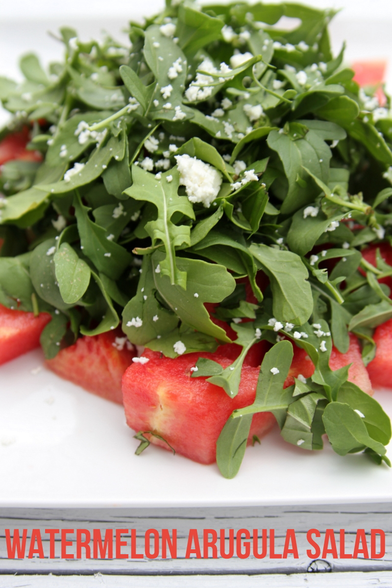 watermelon arugula mint salad recipe