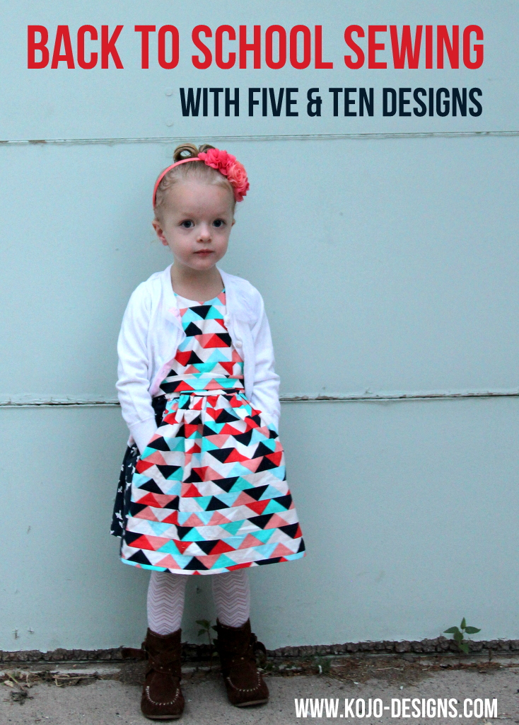 back to school dress sewing with five and ten designs