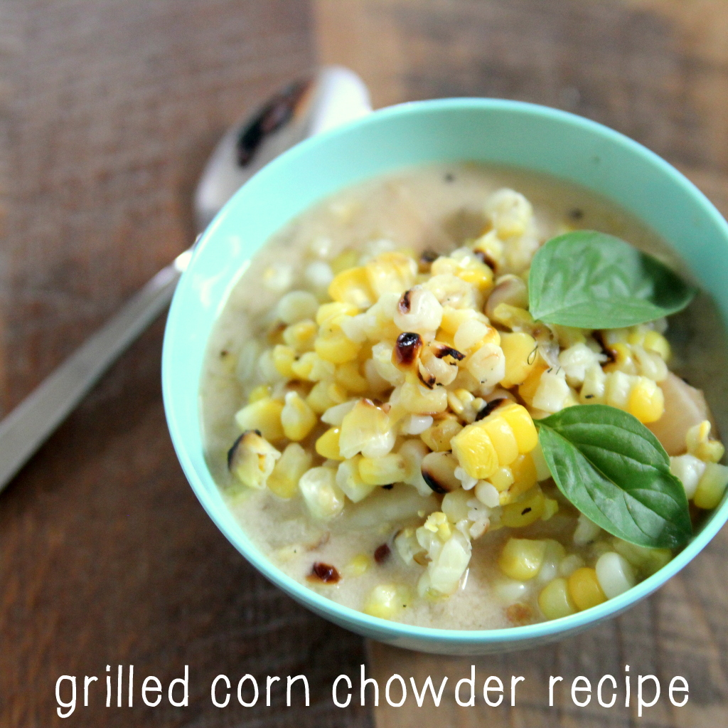 grilled corn and chicken chowder recipe