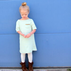 girl's bateaux neck dress