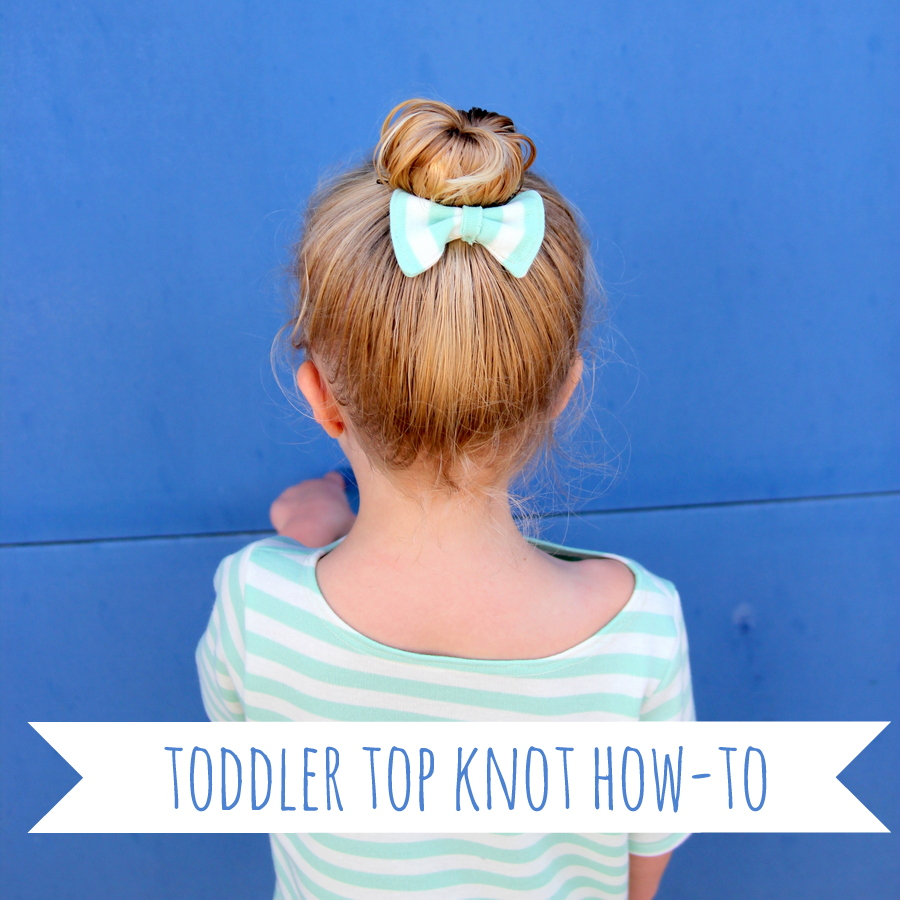 toddler top knot how to