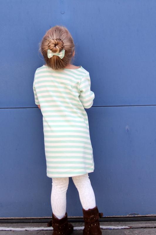 mint striped bateau dress