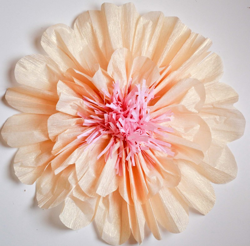 how to make gorgeous, BIG crepe paper flowers