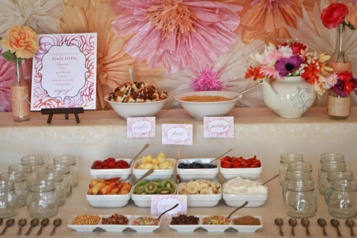 garden tea party trifle bar