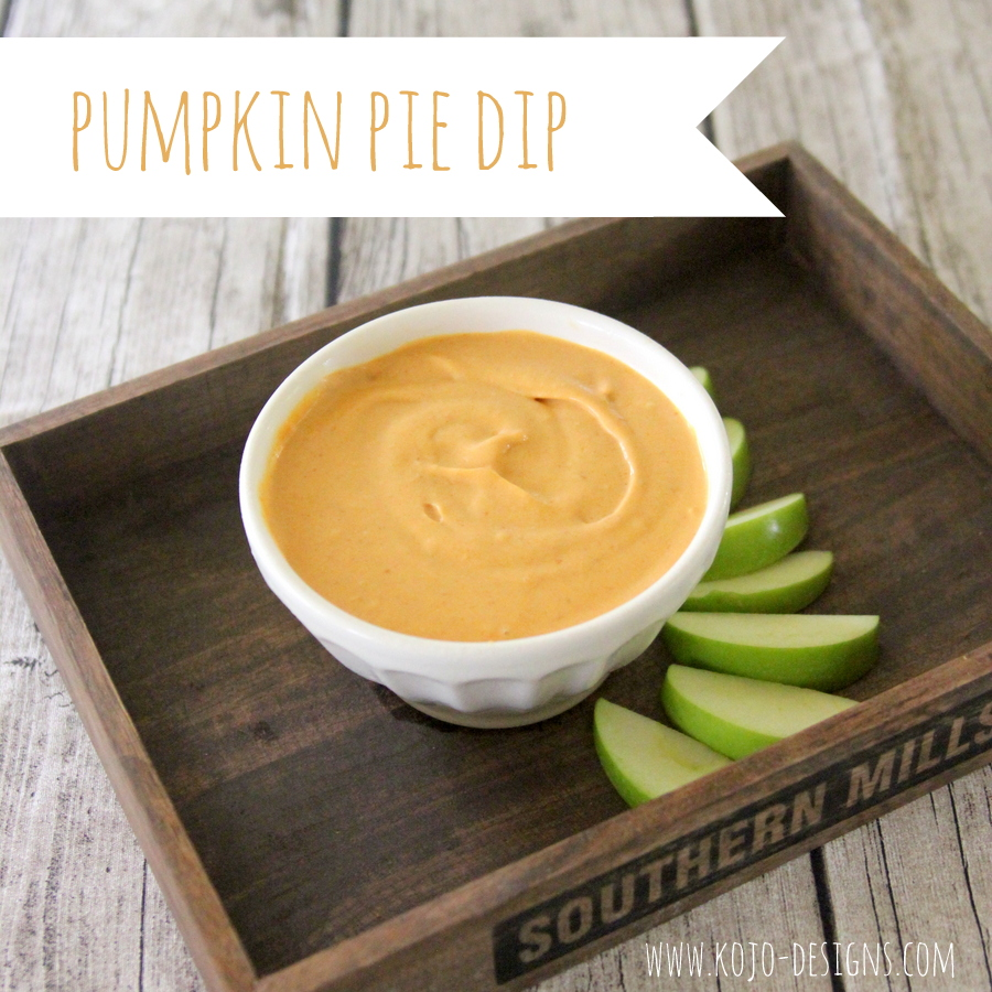 pumpkin pie dip recipe- serve with apple slices (or ginger snaps) for the perfect fall snack!