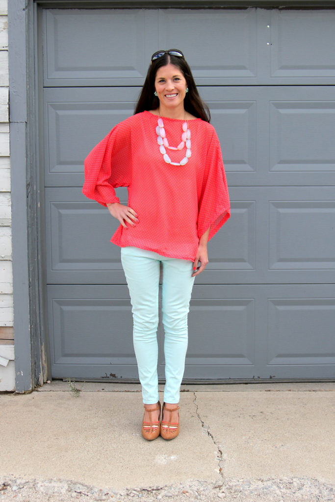 dolman sleeved flowy tunic tutorial