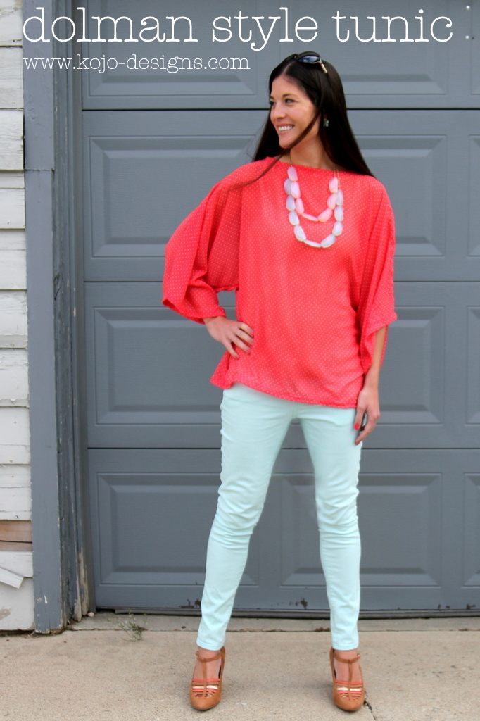 flowy dolman sleeved tunic tutorial