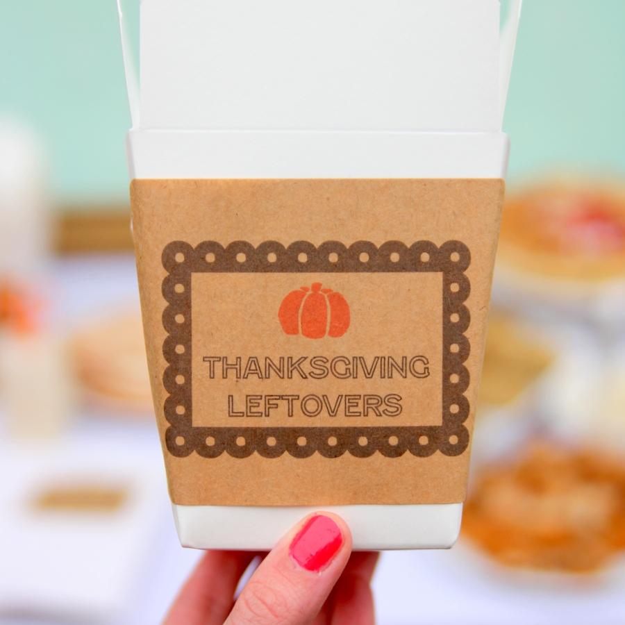 thanksgiving leftover station