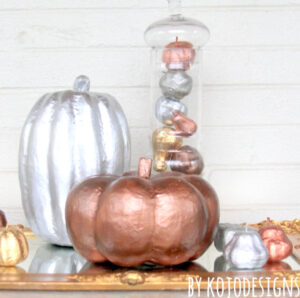 how to make metallic pumpkins