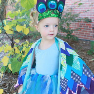 little bird halloween costumes- a peacock and an eagle