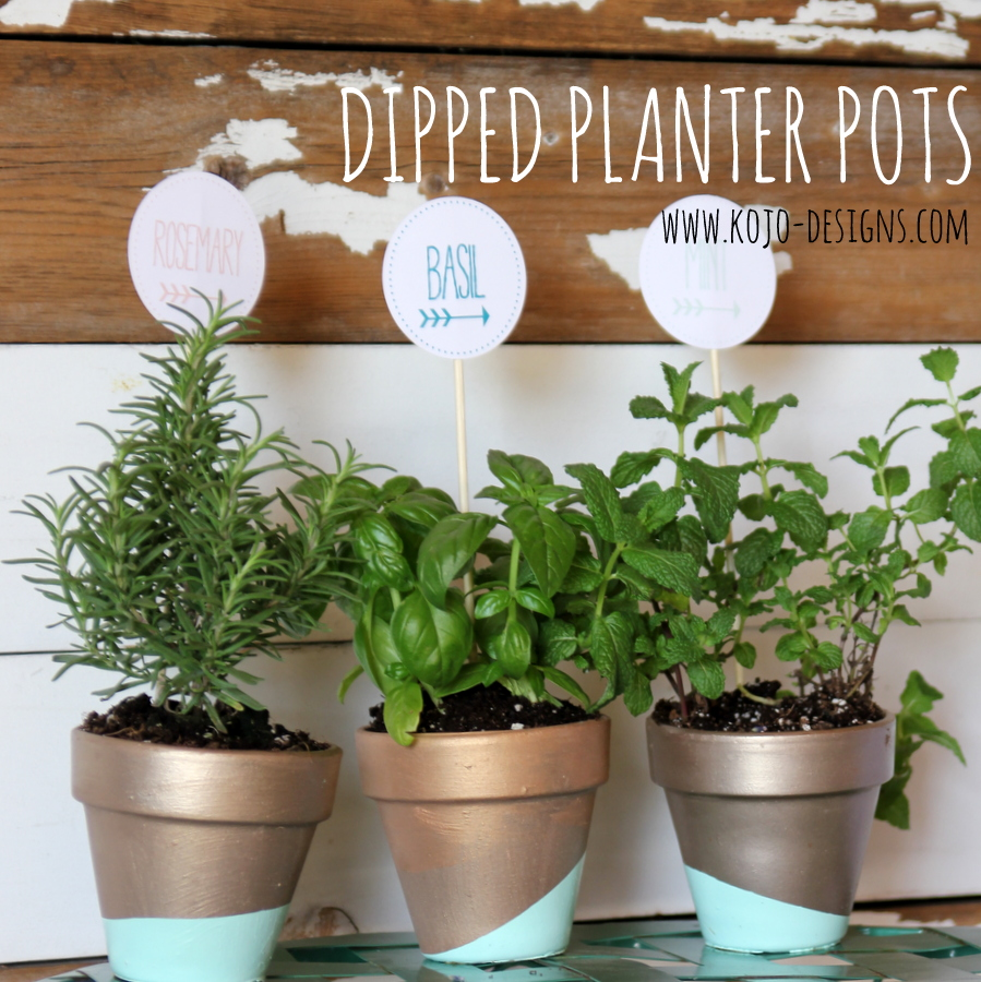 dipped planter pots with free teacher appreciation printables