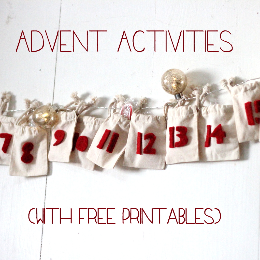 advent activities with free printables
