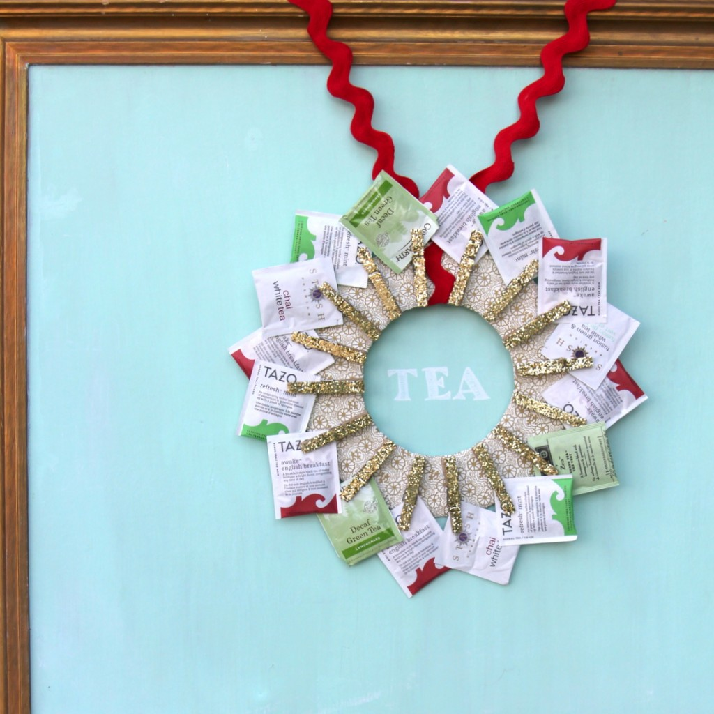 tea wreath handmade gift