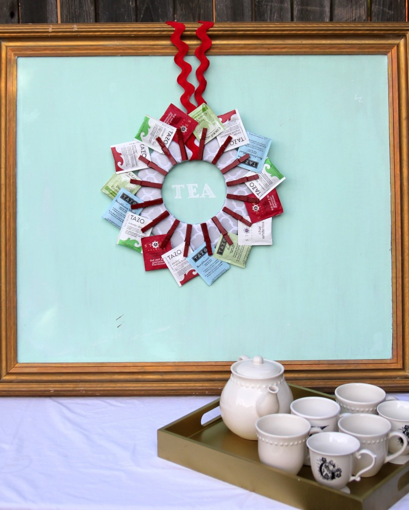 How to make a tea wreath for Kitchen crafts to make
